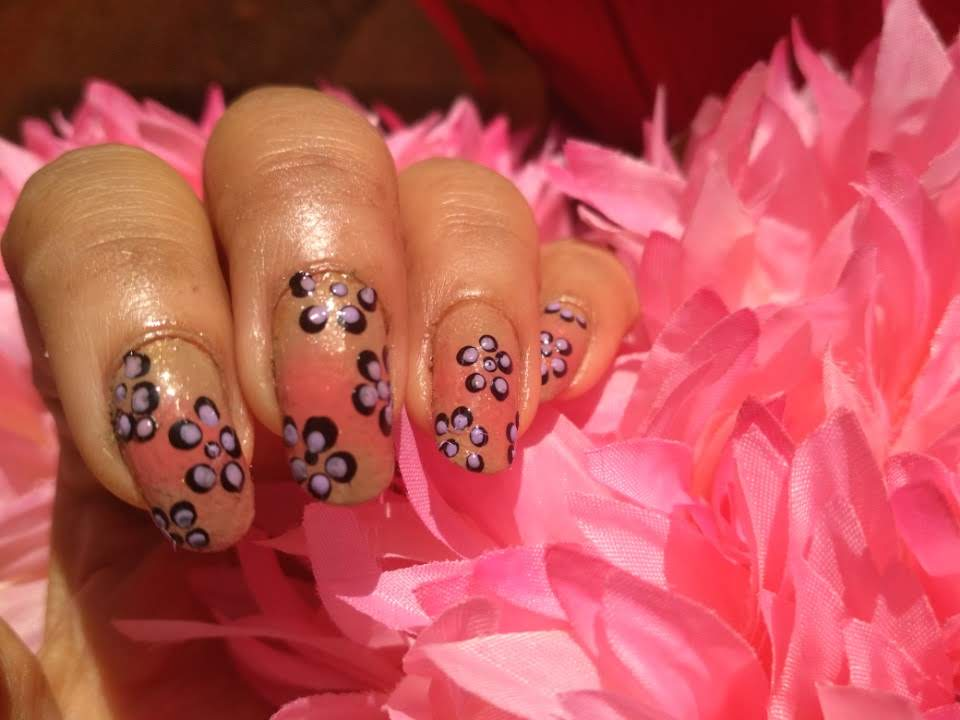 simple and easy nail art at home